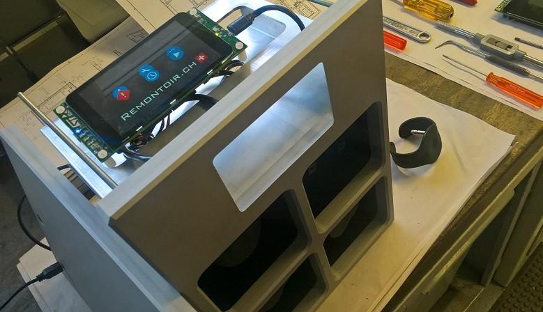 Projet de remontoir avec écran tactile pour configuration
